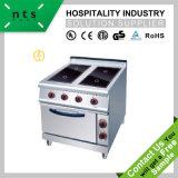 4 plaques de cuisson en céramique électrique avec four électrique pour l'Hôtel et restaurant