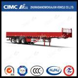 Cimc de Enige Lading van de Band Huajun/de Semi Aanhangwagen van de Omheining met Zijgevel
