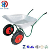 Bandeja de zinco Wheelbarrow Two Wheels