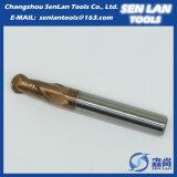 Торцевая фреза носа шарика карбида высокой точности твердая для подвергать механической обработке CNC