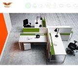 Bonne qualité Siège moderne à 4 personnes Station de travail Bureau Écran