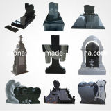 ヨーロッパのHeart Headstone、墓地のためのBlack Granite Stone Monument Tombstone