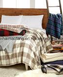 編まれた純粋なバージンウールのホテル毛布