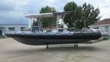 Bateau de sauvetage gonflable rigide de bateau de plongée de la Chine Aqualand 30feet 9m/patrouille de côte/bateau de passager (RIB900)