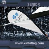 바람 깃발 기치 또는 눈물방울 또는 기털 또는 비행 또는 바닷가 깃발 기치