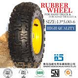 Gomma di gomma 13X5.00-6 della rotella della riga della barra pneumatica della carriola