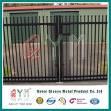 Kurbelgehäuse-Belüftung beschichtete dekorativen geschweißten Stahlpfosten-Zaun/geschweißtes Pfosten-Fechtenpanel