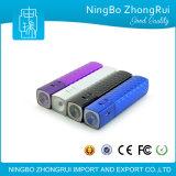 USB étanche Chargeur Portable tube carré Voyager Lipstick mobile Power Bank avec lumière LED