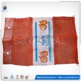Sacchetto della maglia dei pp stampato abitudine per l'imballaggio della cipolla 25kg