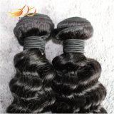 Tessitura brasiliana profonda dei capelli umani di Remy del Virgin di Wavve di alta qualità