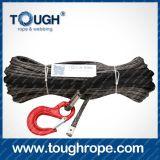 Treuil d'ancrage pour bateaux électrique Dyneema Synthétique 4X4 Cordon de treuil avec manchon de manchon en crochet emballé comme ensemble complet