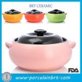 Caramella Color Kitchen Cookware Ceramic Soup Pot con Black Lid