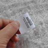 MittelFolded Washing Label mit Codebar für Garment