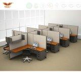 Poste de travail modulaire de meubles de bureau, partition de bureau de structure de panneau de tissu