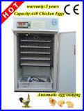 Le CE a certifié l'incubateur de volaille d'utilisation de ferme complètement automatique (440 oeufs)