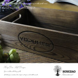 Doos van de Opslag van de Kleur van Hongdao de Douane Gebrande Houten zonder Deksel Wholesale_D