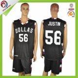 Projeto uniforme de Jersey do basquetebol feito sob encomenda do Sublimation para homens