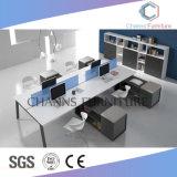 Stazione di lavoro moderna dell'ufficio della mobilia con il divisorio
