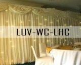 Decoração de casamento branco Cortina de LED