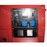10kVA CE/Soncap/Ciqの証明の無声ガソリン対シリンダー発電機
