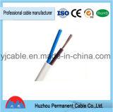 Cable plano trenzado multifilar profesional de Rvvb del cable eléctrico
