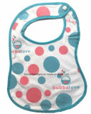 Factory OEM Produce Custom Cotton Blue Dotted Printed Soft Baby Apron Bib