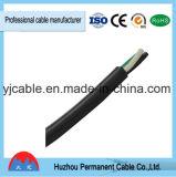 2core Negro vaina redonda eléctrica del alambre del cable flexible