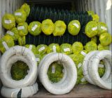 Cercado de cadenas recubierto de PVC/Cadena de eslabones de cadena de la malla de alambre/Esgrima