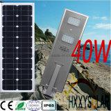 40W réverbère solaire de propriété industrielle du modèle DEL