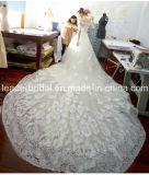 Spitze-Sleeves Brautballkleid-Kathedrale 3/4 Hochzeits-Kleider 2018 Z8005