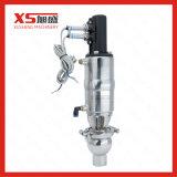 Valve pneumatique d'arrêt et d'inversion sanitaire avec capteur de position