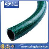 PVC en plastique Fibre souple tressée Eau renforcée Hydraulique Jardin Irrigation tuyau flexible avec ajustement