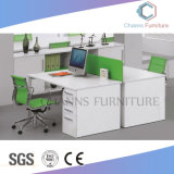 Stazione di lavoro moderna del cubicolo dell'ufficio della traversa della mobilia