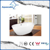 浴室の楕円形の支えがないアクリルの浴槽(AB1527W)