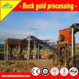 Niedrige Kosten-Felsen-Goldverarbeitungsanlage mit Kiefer-Zerkleinerungsmaschine, Hammermühle und rütteln Tisch