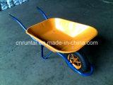 Carriola pneumatica della rotella del cassetto rivestito della polvere di buona qualità (Wb6400)