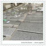 Witte Grijze Countertop van de Keuken van het Graniet voor het Project van de Woonplaats