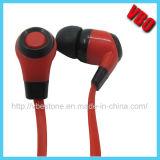 Câble plat élégant écouteurs avec microphone de la Chine en usine pour écouteurs