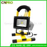 Scheinwerfer-Arbeit LED-10W beleuchtet im Freien kampierende Lichter mit nachladbaren Lithium-Batterien