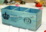 Contenitore di legno solido di sapone dello scompartimento su ordinazione di marchio 9