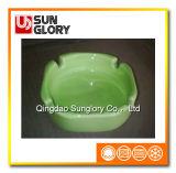 Quadratischer grüner keramischer Aschenbecher Yg017