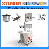 A marcação do laser da fibra para a faca de alumínio das facas dos potenciômetros do metal dos Ss segura o Faucet de água