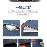 男女兼用のキャンバス旅行学校のショッピングラップトップの女性戦闘状況表示板の化粧品はバックパック袋を袋に入れる