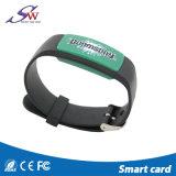 Justierbarer RFID SilikonWristband mit wahlweise freigestelltem Chip