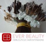 卸し売りループマイクロPrebonded Remyの人間の毛髪の拡張