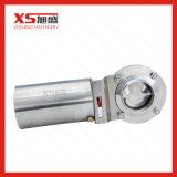 6inch 152.4mm 스테인리스 AISI304 일반적으로 닫히는 액추에이터 압축 공기를 넣은 나비 벨브