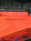 Coperchio arancione della tela incatramata del PE, strato della tela incatramata del PE