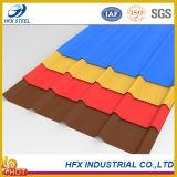 Цвет гофрировал стальной лист крыши используемый в строительном материале