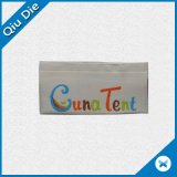 Escritura de la etiqueta de alta densidad hecha girar de la tela del hilado para la tienda/la ropa/la materia textil casera