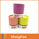 Cadre de papier de empaquetage cosmétique de cadeau de rond de tube de carton